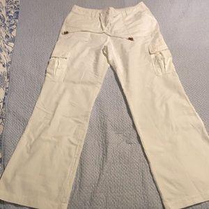 New York & Co linen cargo pants. Wide leg. 6x32